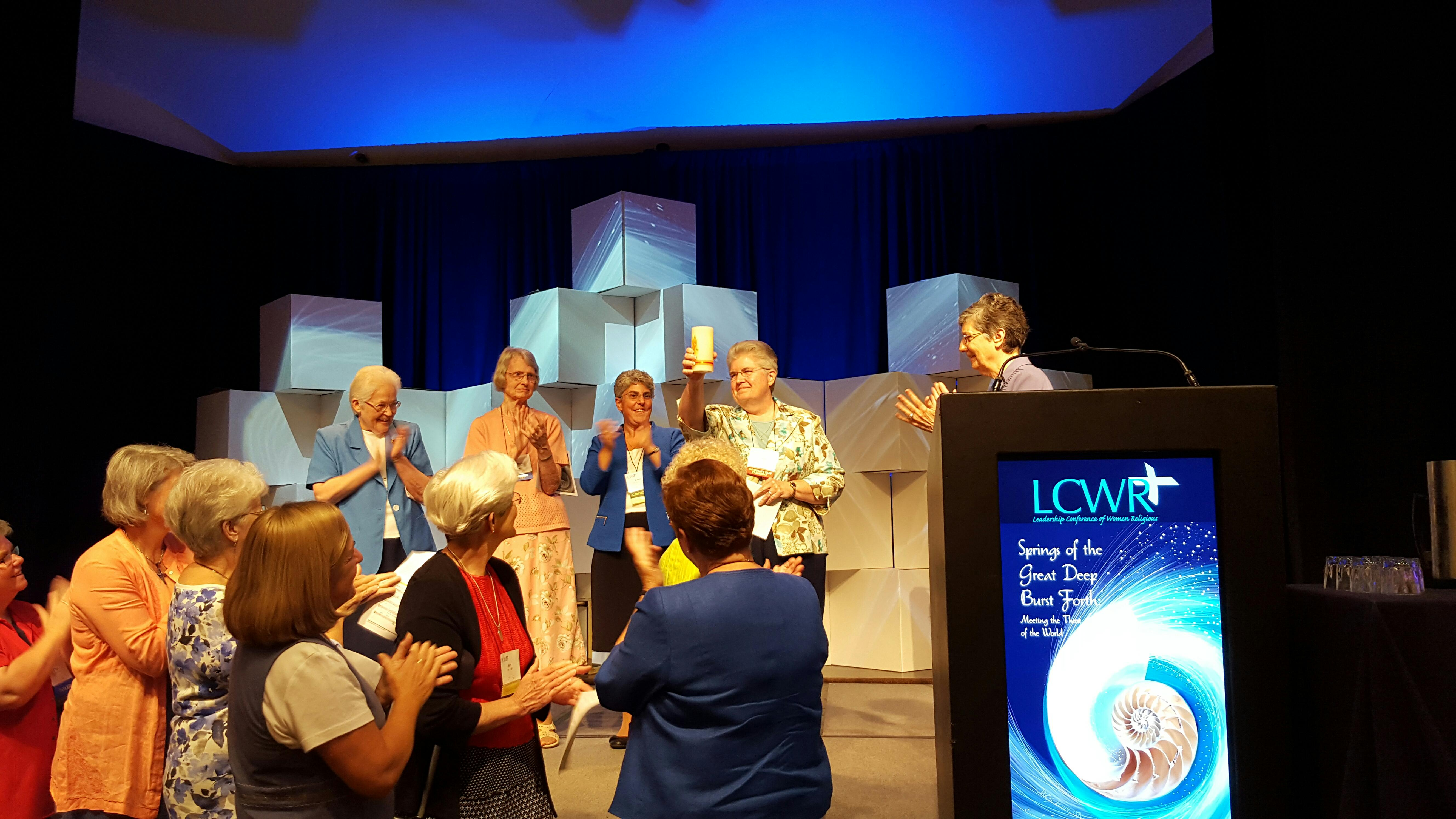 Sr. Carol Zinn at the LCWR Assembly in Aug. 2016.
