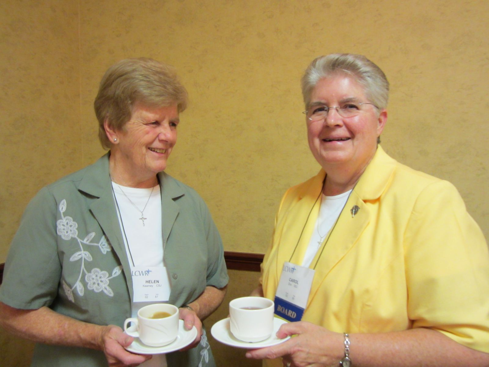 Sr. Helen Kearney with Sr. Carol Zinn at her first LCWR assembly Aug. 9 2009.