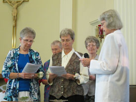 Lorren Harbin and Kathy Schaefer make vows