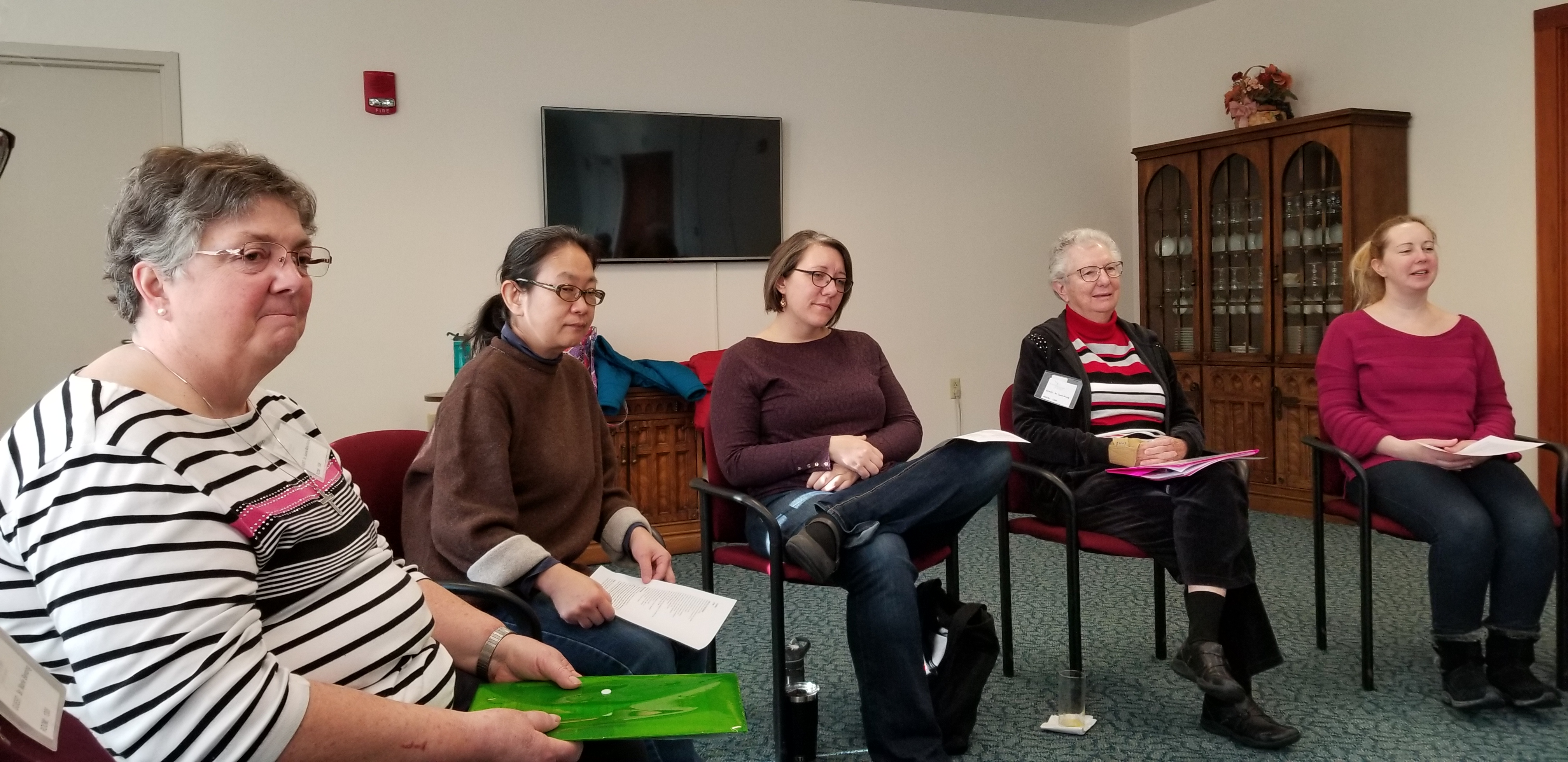 Discussing the first semester of the 2018-2019 US Federation novitiate.