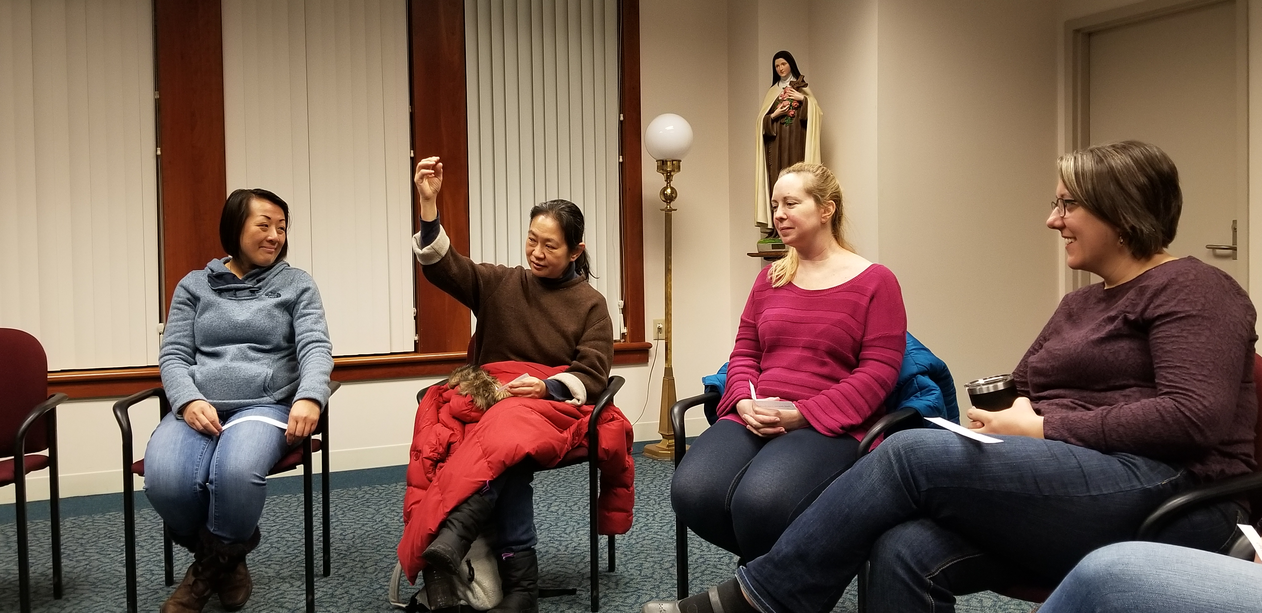 Discussing the first semester of the 2018-2019 U.S. Federation Novitiate.
