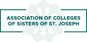 Logo with green lace behind the green words Association of Colleges of the Sisters of St. Joseph